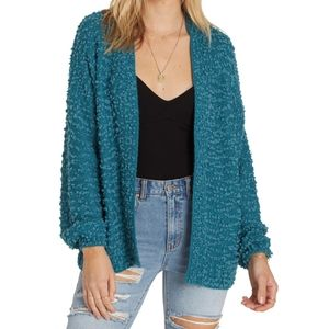 Billabong Boucle Deep Marine Cardigan